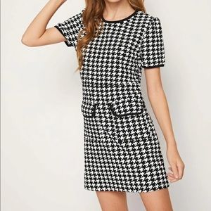 NWOT Houndstooth dress KIDS size 10